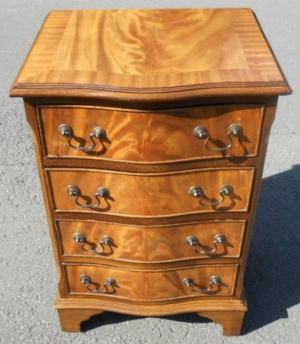 Small Serpentine Light Mahogany Chest of Drawers